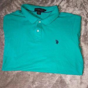 Turquoise Us Polo  Short Sleeve